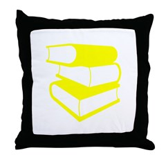 Stack Of Yellow Books Throw Pillow