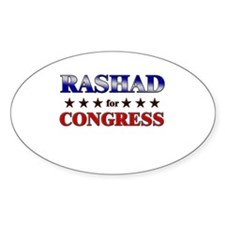 RASHAD for congress Oval Decal