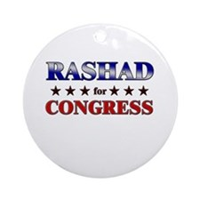 RASHAD for congress Ornament (Round)