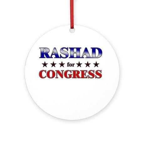 RASHAD for congress Ornament (Round)