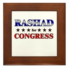 RASHAD for congress Framed Tile