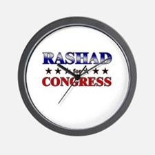 RASHAD for congress Wall Clock
