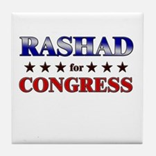 RASHAD for congress Tile Coaster