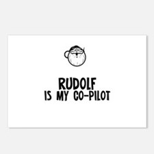 Rudolf Is My Co-Pilot Postcards (Package of 8)