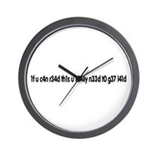 1f u c4n r34d th1s u r34lly n Wall Clock