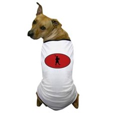 Bagpipes (euro-red) Dog T-Shirt