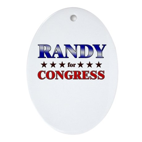 RANDY for congress Oval Ornament