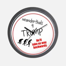 Neanderthals 4 Trump Wall Clock