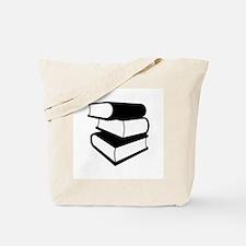 Stack Of Black Books Tote Bag