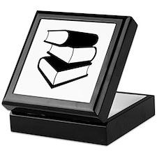 Stack Of Black Books Keepsake Box