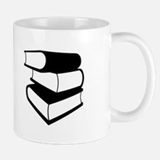 Stack Of Black Books Mug