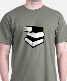 Stack Of Black Books T-Shirt