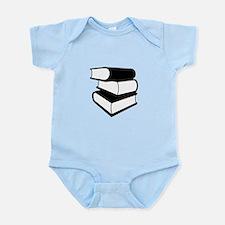 Stack Of Black Books Infant Bodysuit