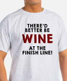 Wine at the finish line T-Shirt