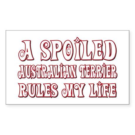 Spoiled Aussie Rectangle Sticker