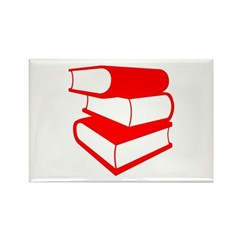 Stack Of Red Books Rectangle Magnet