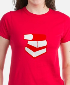 Stack Of Red Books Tee