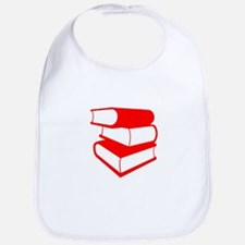 Stack Of Red Books Bib