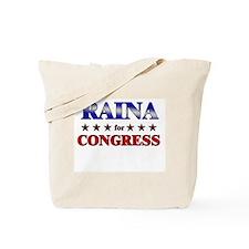RAINA for congress Tote Bag