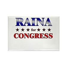 RAINA for congress Rectangle Magnet (10 pack)