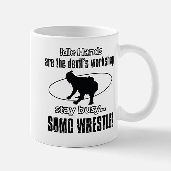 Stay Busy Sumo Wrestle Mug