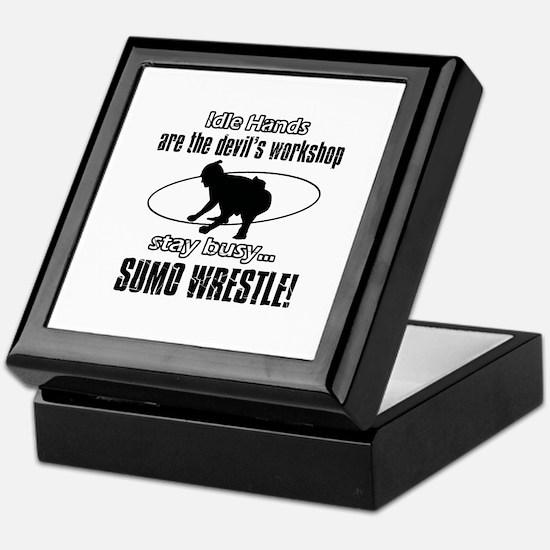 Stay Busy Sumo Wrestle Keepsake Box