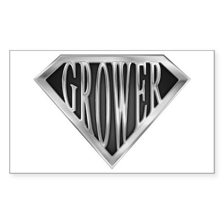 SuperGrower(metal) Rectangle Sticker