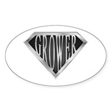 SuperGrower(metal) Oval Decal