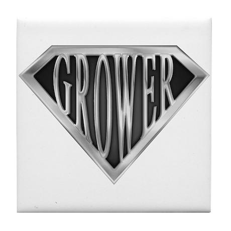SuperGrower(metal) Tile Coaster