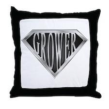 SuperGrower(metal) Throw Pillow