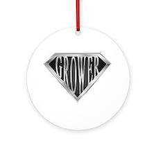 SuperGrower(metal) Ornament (Round)