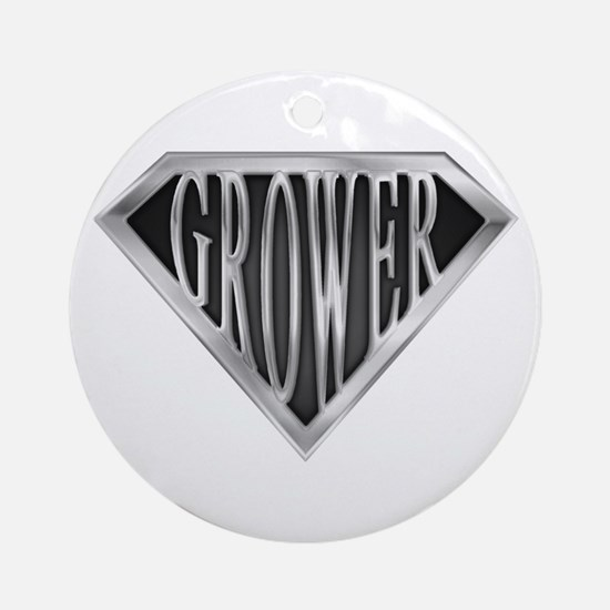 SuperGrower(metal) Ornament (Round)