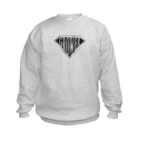 SuperGrower(metal) Kids Sweatshirt