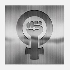Feminist Fist Metal Tile Coaster