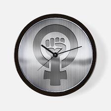 Feminist Fist Metal Wall Clock