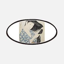 Hashiguchi Goyo - Woman in Blue Combing Her Patch