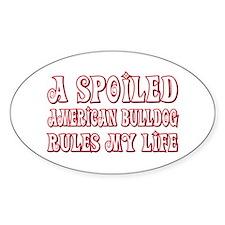 Spoiled Bulldog Oval Decal