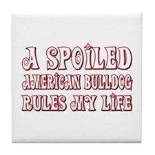 Spoiled Bulldog Tile Coaster