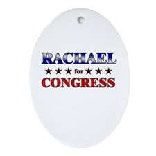 RACHAEL for congress Oval Ornament
