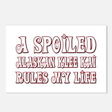 Spoiled Klee Kai Postcards (Package of 8)