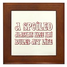 Spoiled Klee Kai Framed Tile