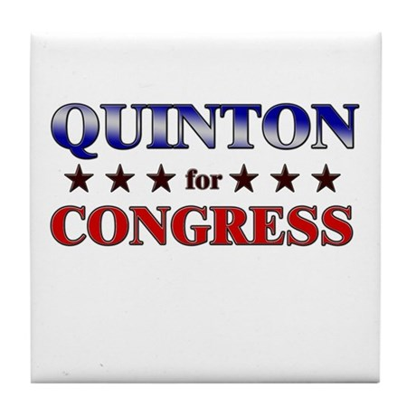 QUINTON for congress Tile Coaster