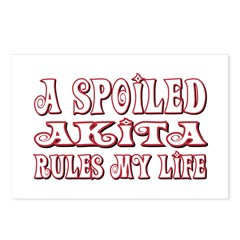 Spoiled Akita Postcards (Package of 8)