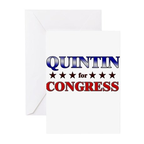 QUINTIN for congress Greeting Cards (Pk of 10)
