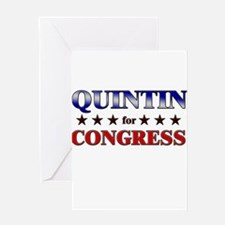 QUINTIN for congress Greeting Card