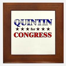 QUINTIN for congress Framed Tile