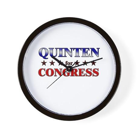 QUINTEN for congress Wall Clock