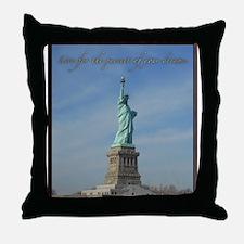 Lady Liberty Dream Throw Pillow