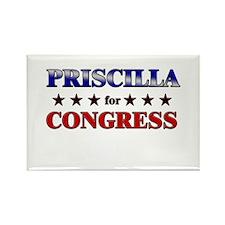PRISCILLA for congress Rectangle Magnet