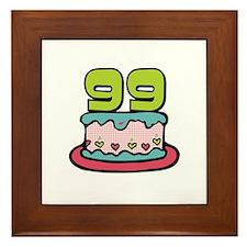 99th Birthday Cake Framed Tile